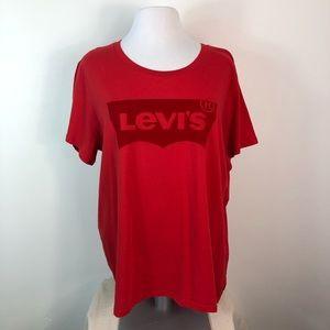 NWT Levi's Top Velvet Logo Tee Shirt  Plus Sz 2X